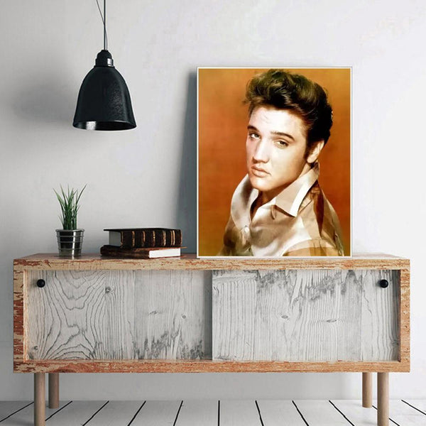 Elvis Presley DIY Full Drill Round Drill Diamond Painting(50x40cm)