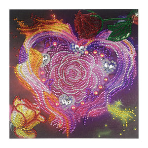 5D DIY Crystal Rhinestones Partial Drill Diamond Painting Flower Craft Kit