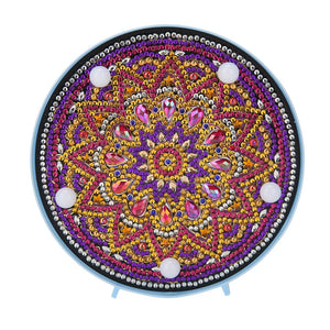 Mandala DIY Special Shape Full Drill Diamond Painting LED Light Night Lamps