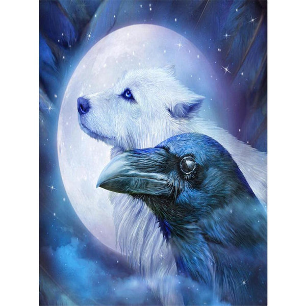 Eagle and Dog 5D DIY Full Drill Round Drill Diamond Painting