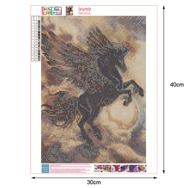 Flying Horse 5D DIY Full Drill Round Drill Diamond Painting