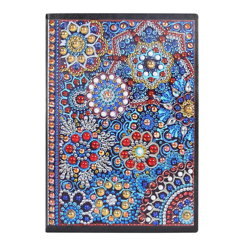 DIY Mandala Special Shaped Diamond Painting 50 Pages A5 Students Notebook