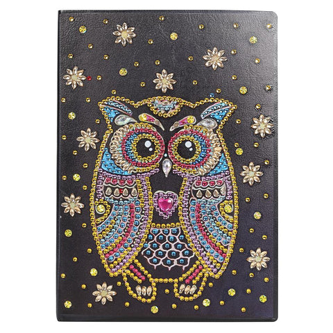 DIY Owl Special Shaped Diamond Painting 50 Pages A5 Notebook Sketchbook