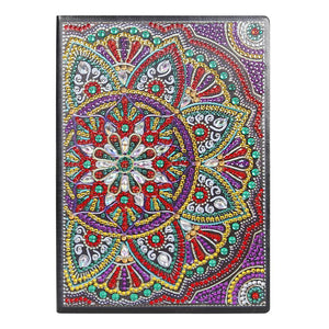 DIY Mandala Special Shaped Diamond Painting 50 Sheets A5 Office Notebook