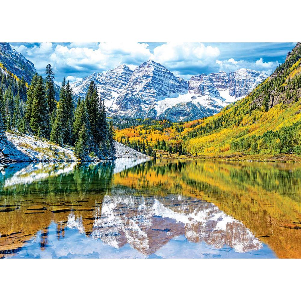 Mountain Lake 5D DIY Full Drill Square Drill Diamond Painting