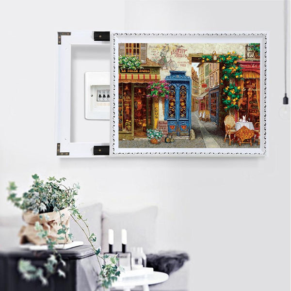 Retro Street 5D DIY Full Drill Square Drill Diamond Painting