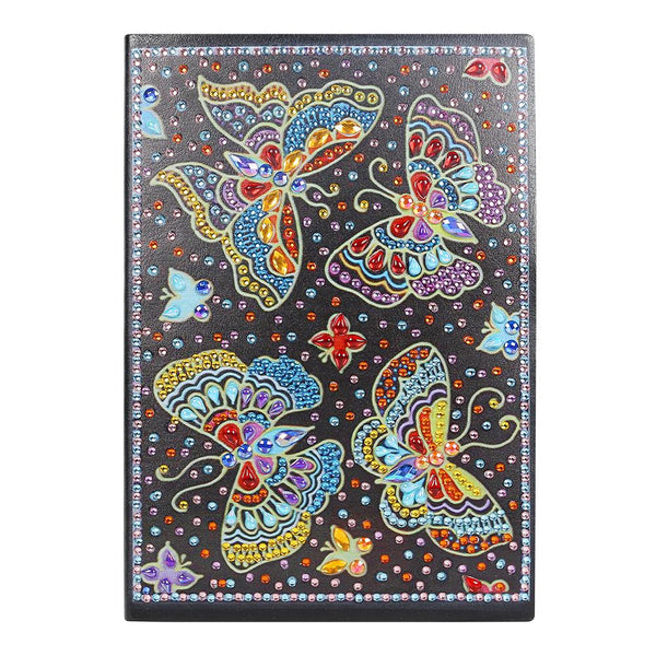 DIY Butterfly Special Shaped Diamond Painting 50 Pages A5 Notebook Notepad