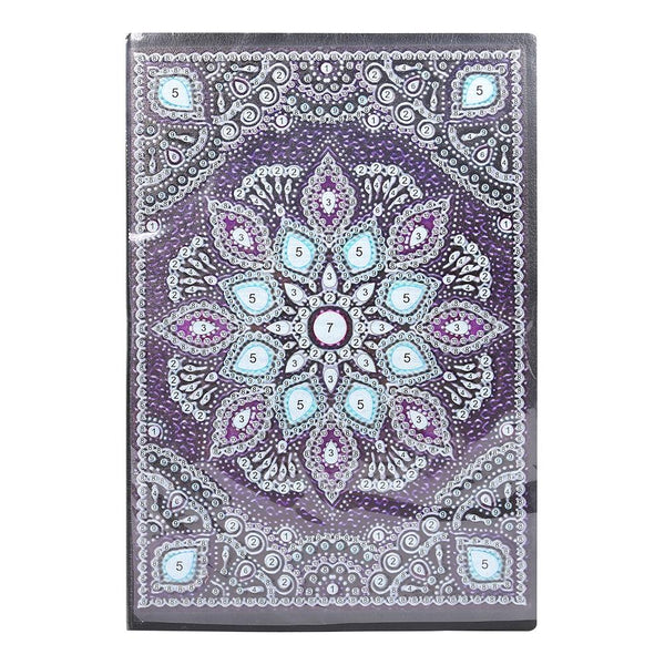 DIY Mandala Special Shaped Diamond Painting 50 Pages A5 Notebook Notepad