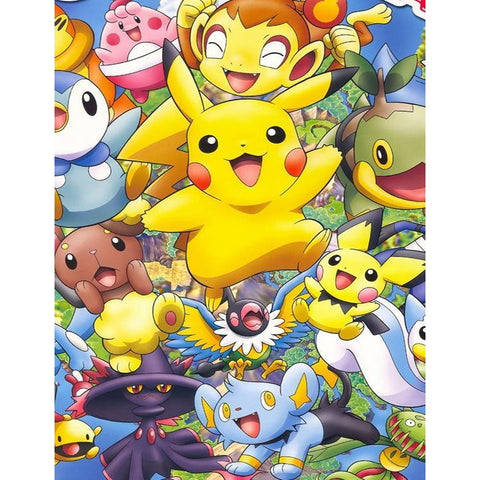 Pokémon Pikachu 5D DIY Full Drill Round Drill Diamond Painting(40x50cm)