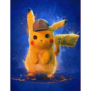 Pokémon Pikachu 5D DIY Full Round Drill Diamond Painting(40*50cm/15.8*19.7'')