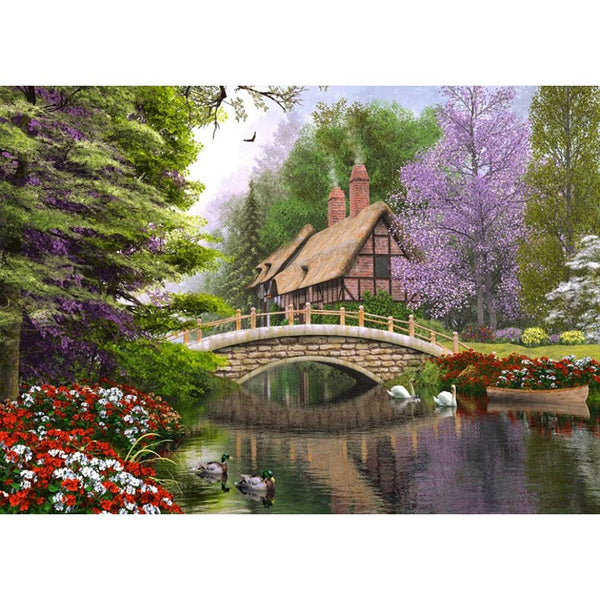 Countryside Landscape DIY Full Drill Round Drill Diamond Painting