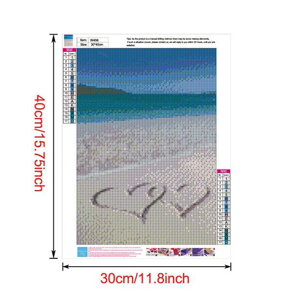 Sandy Beach 5D DIY Full Drill Round Drill Diamond Painting