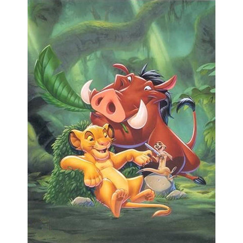 The Lion King DIY Full Drill Round Drill Diamond Painting(40x50cm)