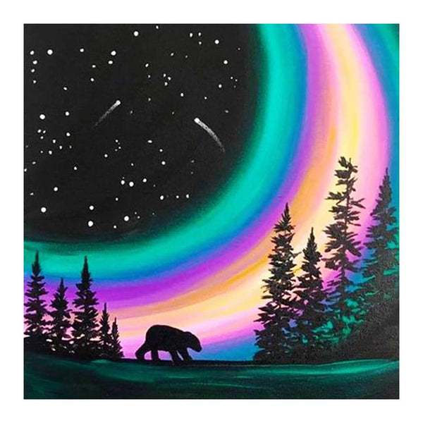 Rainbow Moon 5D DIY Full Drill Round Drill Diamond Painting