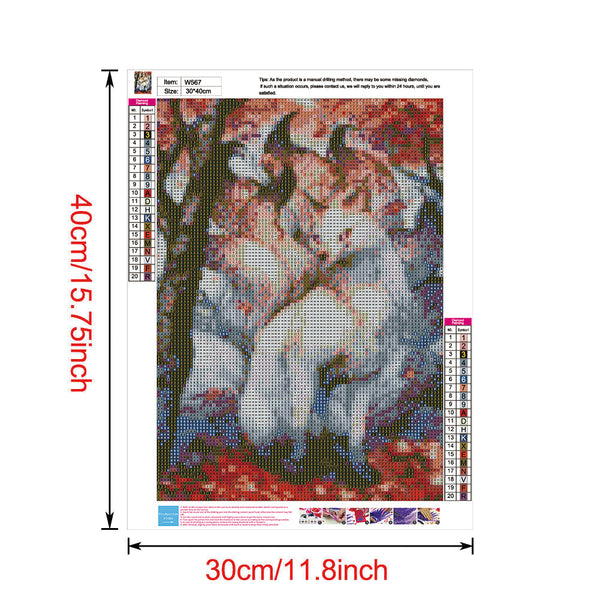 Nine-tailed Fox 5D DIY Full Round Drill Diamond Painting