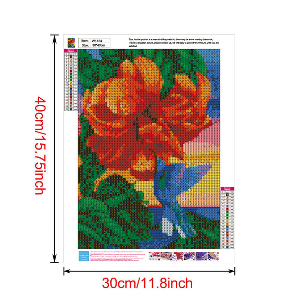 Flowers 5D DIY Full Drill Round Drill Diamond Painting