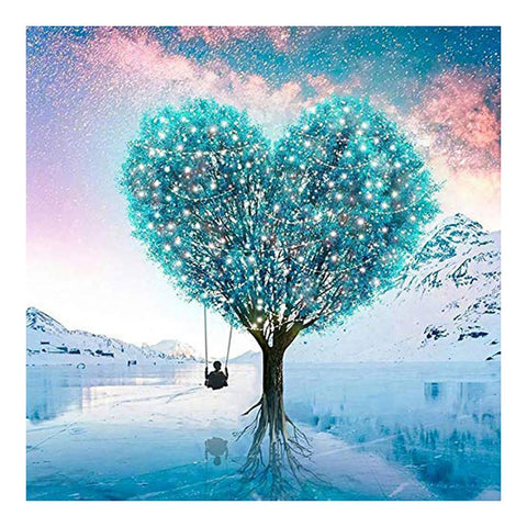 Love Heart Tree 5D DIY Full Drill Round Drill Diamond Painting