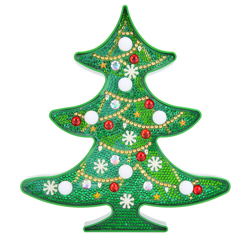 DIY Special Shaped Diamond Painting Christmas Tree LED Night Light Decor