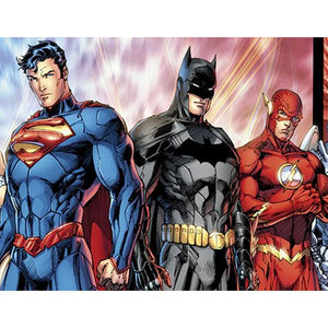 Marvel Characters Batman Superman 5D DIY Full Drill Round Drill Dimaond Painting(40X50cm/15.75X19.69in)