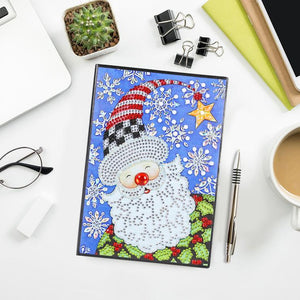 Santa Claus DIY Crystal Rhinestones Diamond Painting 60 Pages A5 Office Notebook