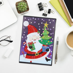 Santa Claus DIY Crytstal Rhinestones Diamond Painting 60 Page A5 Notebook Gift
