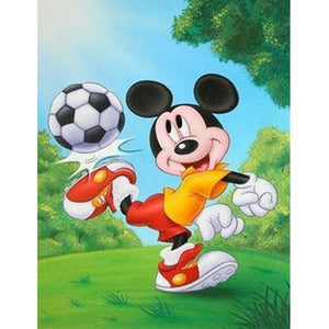 Mickey Mouse DIY Full Drill Round Drill Diamond Painting(40*50cm/15.8*19.7'')