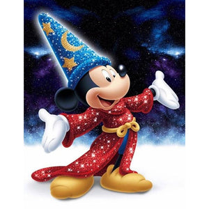 Mickey Mouse DIY Full Drill Round Drill Diamond Painting(40X50cm)