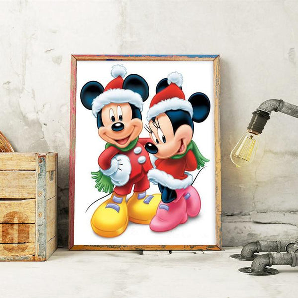 Mickey Mouse and Minne Mouse 5D DIY Full Drill Round Drill Diamond Painting