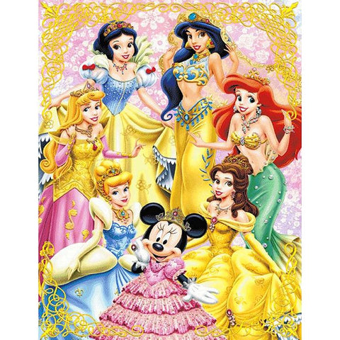 Disney Princess 5D DIY Full Drill Round Drill Diamond Painting