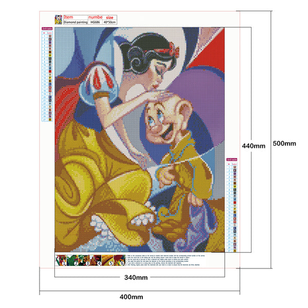 Snow White and Dwarfs DIY Full Drill Round Drill Diamond Painting
