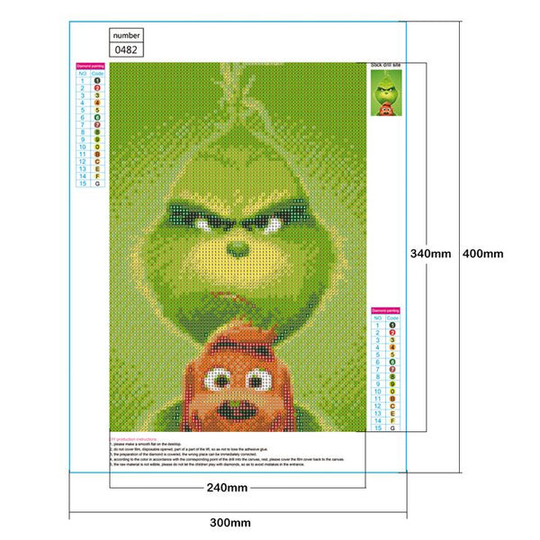 The Grinch 5D DIY Full Drill Round Drill Diamond Painting