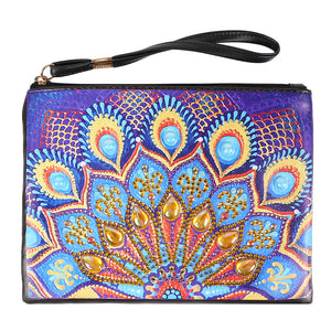 DIY Mandala Crystal Rhinestones Diamond Painting Wristlet Clutch Women Wallet