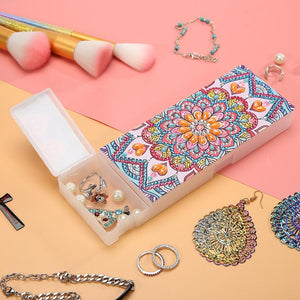 Storage Box DIY Mandala Special Shaped Diamond Painting Students Pencil Case Storage Container