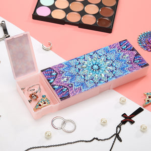 DIY Mandala Special Shaped Diamond Painting Students Pencil Storage Case Storage Container