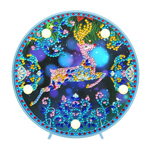 DIY Crystal Rhinestone Diamond Painting Xmas Elk Light Home Decor