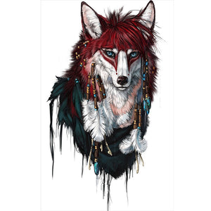 Wolf DIY Full Drill Round Drill Diamond Painting