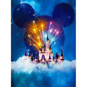 Mickey Mouse Fireworks Disney Castle DIY Full Drill Diamond Painting