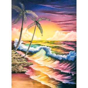 Beach Tree DIY Full Drill Round Drill Diamond Painting
