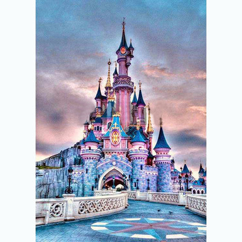 Disney Castle 5D DIY Full Drill Round Drill Diamond Painting