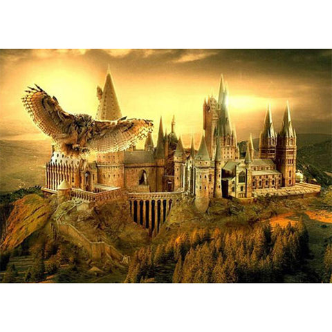 Harry Potter Hogwarts 5D DIY Full Drill Round Drill Diamond Painting