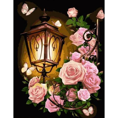 Flower Light 5D DIY Full Drill Round Drill Diamond Painting(40X50cm)