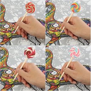 1pc Lolly Shape 5D DIY Diamond Painting Point Drill Pen Tool(Color Random)