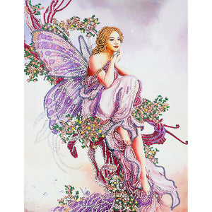Fairy Girl 5D DIY Special Shaped Crystal Rhinestones Diamond Painting