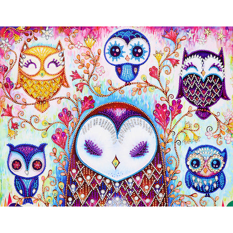 Owl 5D DIY Special Shaped Crystal Rhinestones Diamond Painting