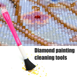 Dual-use Diamond Painting Point Drill Pen Sweep Brush Pick Up Clean-up Tool