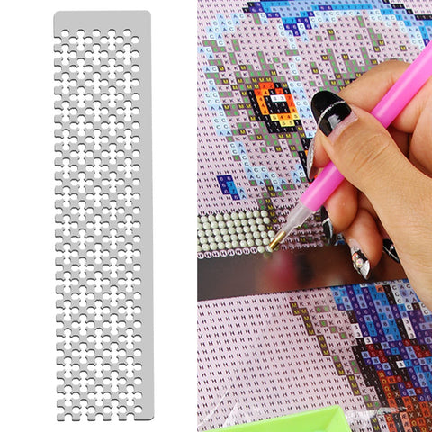 DIY Diamond Painting Tool Square Round Drill Point Drill Grid Ruler