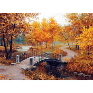 Autumn Scenery DIY Full Drill Round Drill Diamond Painting