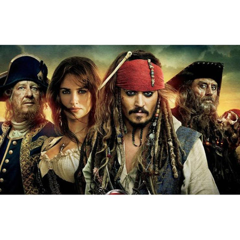 Pirate Jack DIY Full Drill Round Drill Diamond Painting(40x50cm)