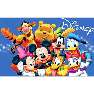 Mickey Mouse and Winnie the Pooh DIY Full Drill Round Drill Diamond Painting(40x60cm)