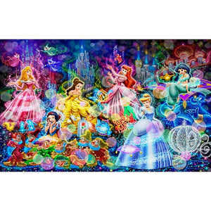 Disney Princess DIY Full Drill Round Drill Diamond Painting(40x60cm)